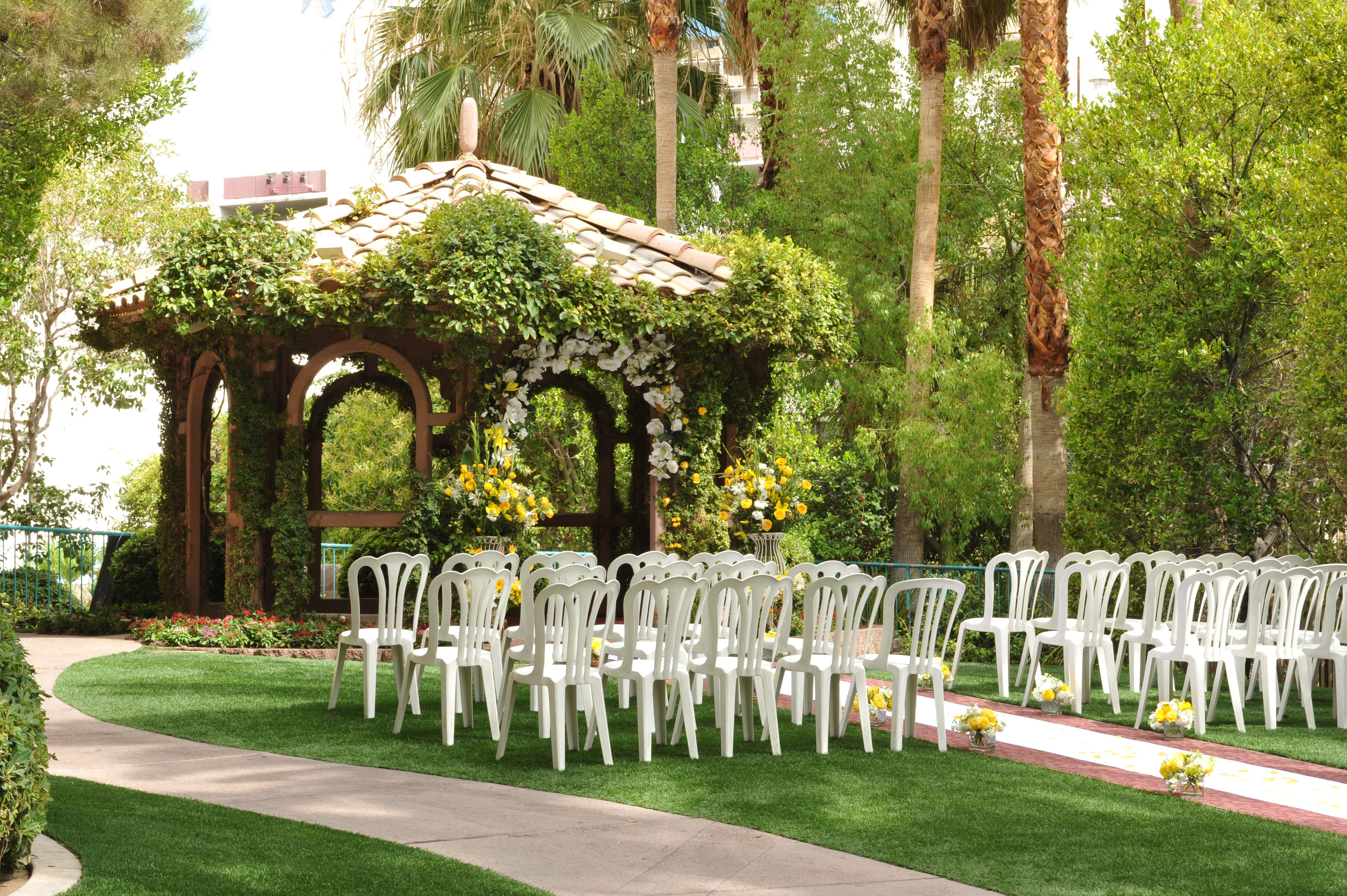 vegas wedding chapels The Gazebo Wedding Chapel at Flamingo Hotel Casino Las Vegas