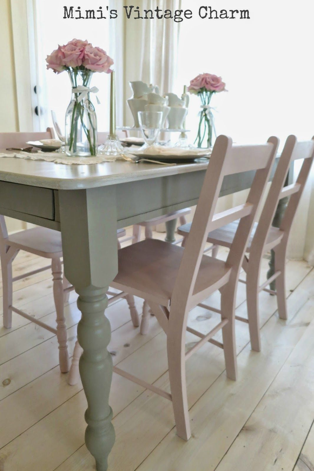 painted kitchen tables Stone top dining table w a chalk paint base Antoinette Dining Room Chairs French Linen Table