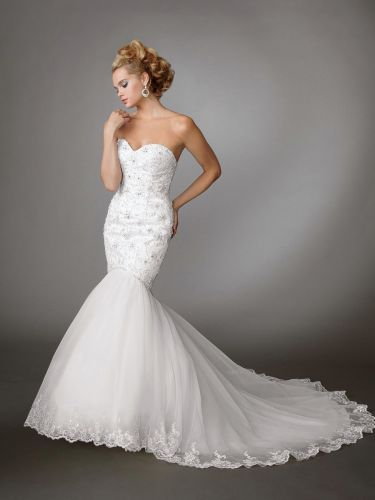 white mermaid wedding dresses Jordan Wedding Dresses Style M wedding dresses