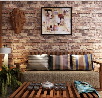 Blooming Wall: Cultural Faux Rustic Tuscan Brick Wall Wallpaper 3d for Walls Wall Paper Roll, 20 ...
