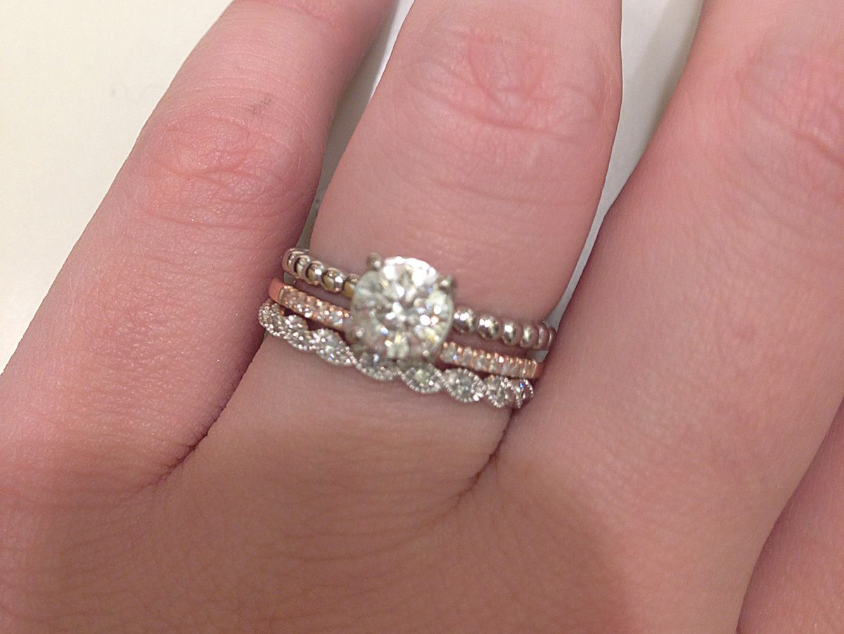 dainty wedding bands mismatched wedding rings Google Search