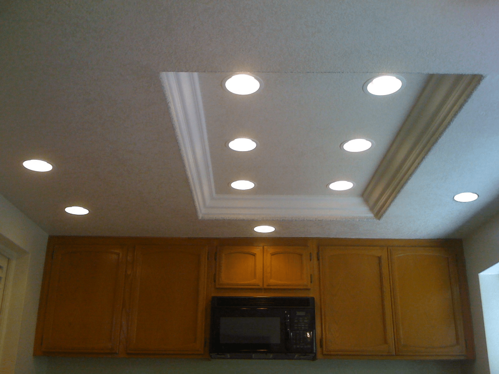 fluorescent kitchen lights How to replace recessed fluorescent kitchen lighting For the Home Pinterest Kitchen ceilings Sons and Fluorescent light fixtures
