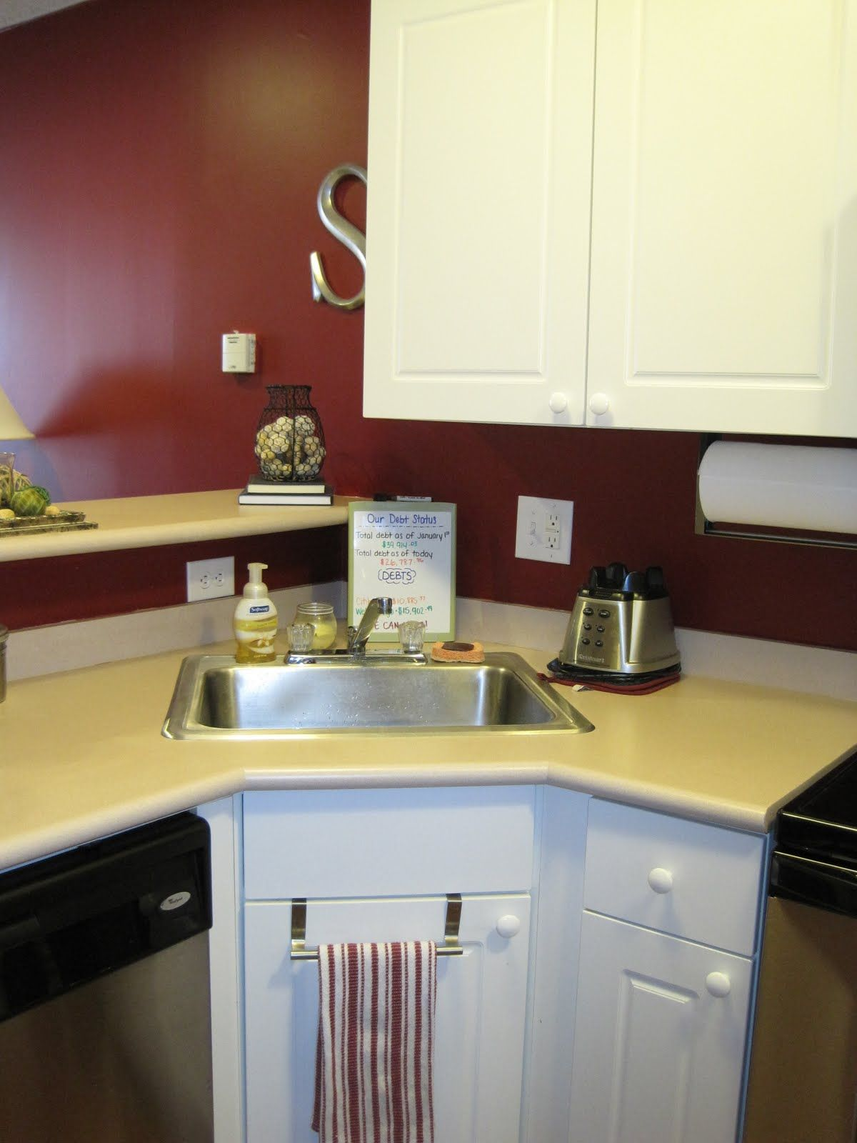 sink kitchen cabinets MODERN SMALL CORNER KITCHEN SINK DESIGN Interior Images