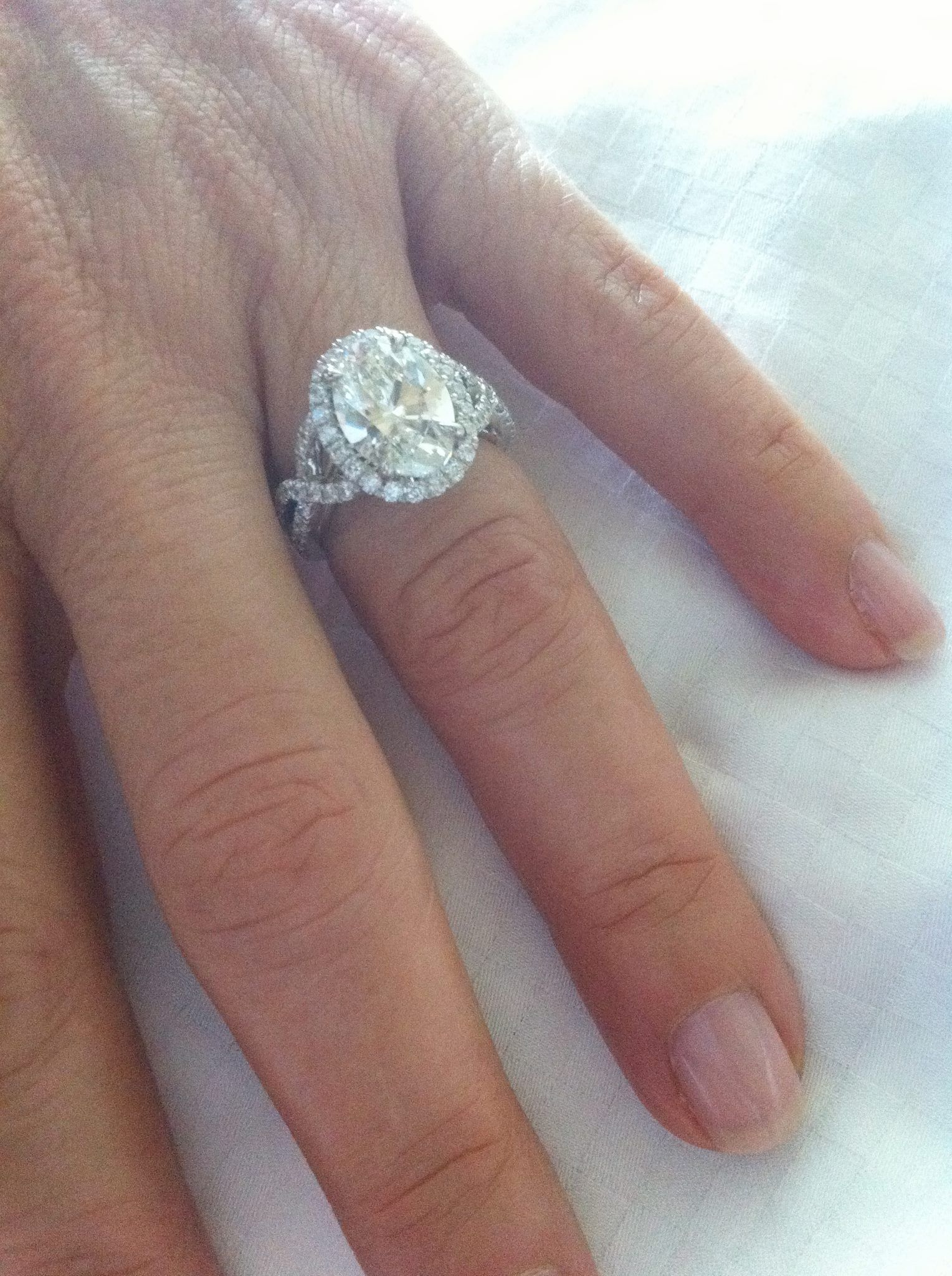elegant wedding rings A huge thank you to Sylvie Collection for this breathtaking diamond ring with oval center diamond The design is timeless and elegant and the ring is