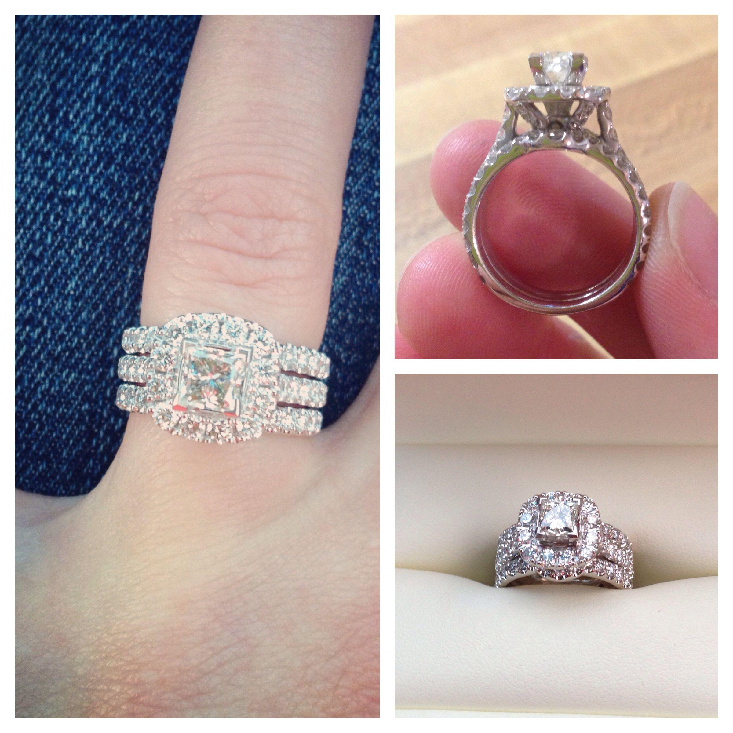 neil lane wedding bands My amazing wedding ring from my amazing husband Neil Lane bridal set with 3rd band
