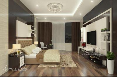 desain interior kamar utama konsep modern minimalis desain interior Makassar | portofolio ...