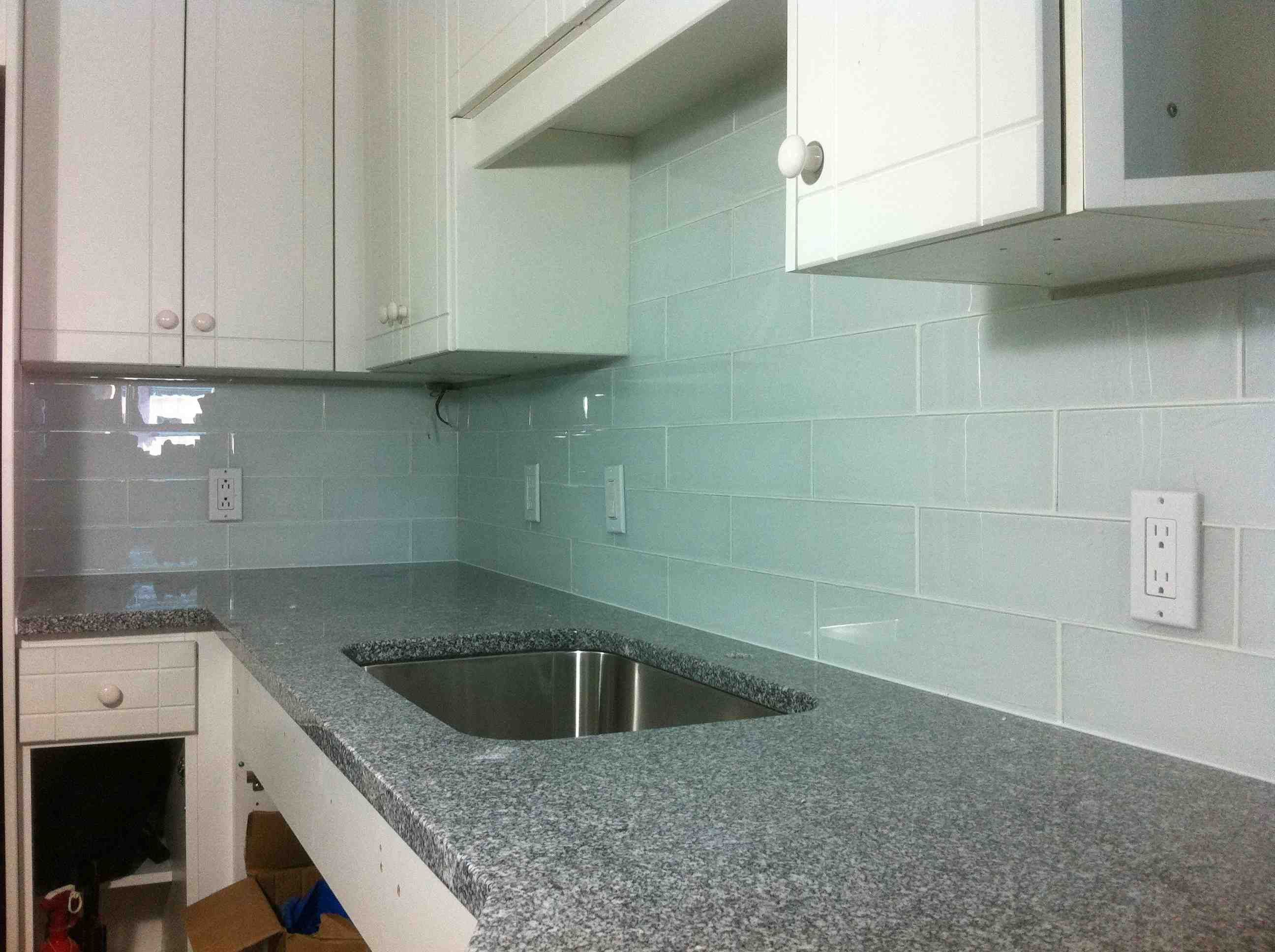 glass kitchen backsplash Bathroom Kitchen Modern Glass Subway Tile Backsplash For Kitchen Designs Glass Subway Tile Backsplash