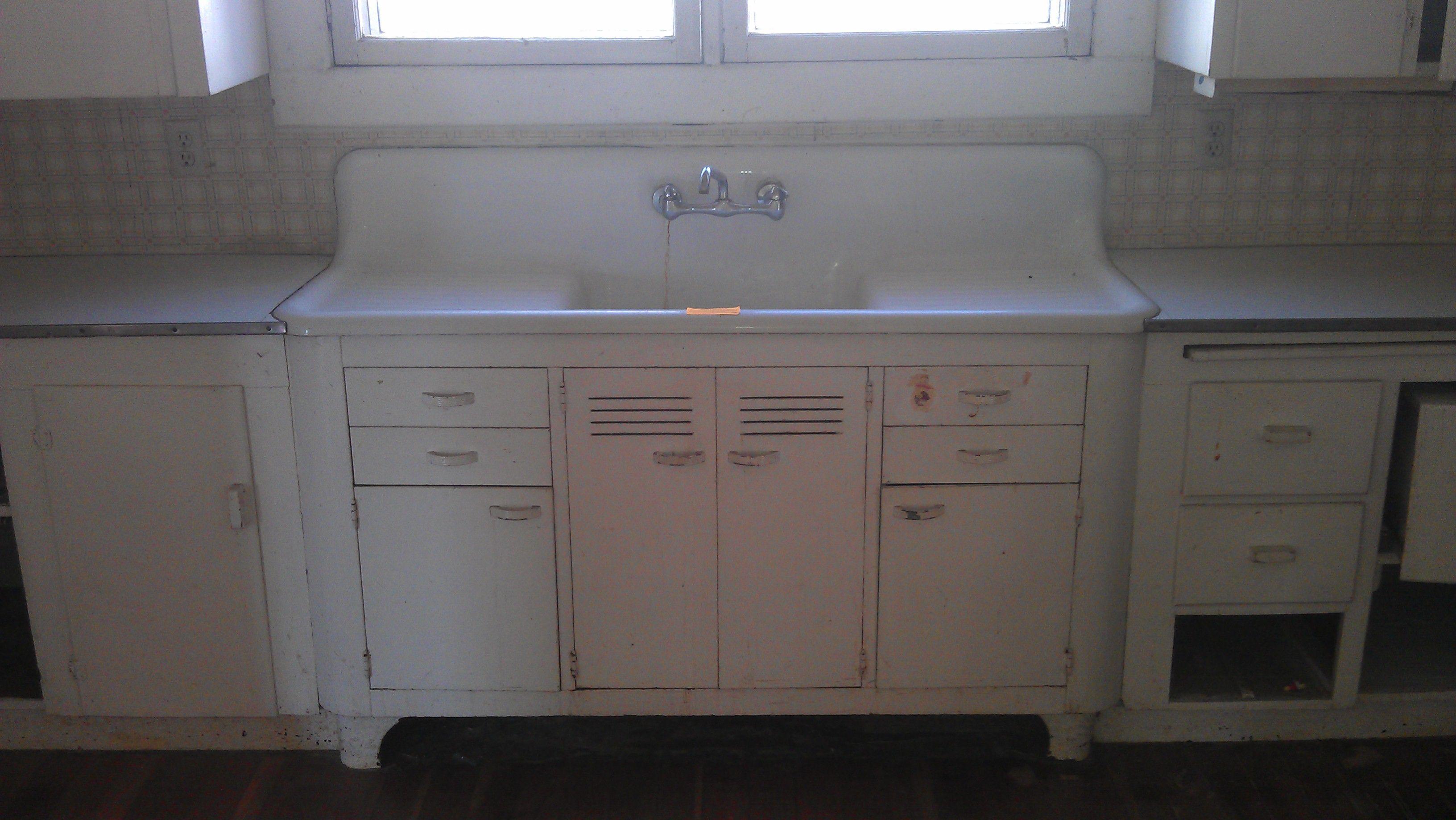 farm kitchen sink mounted double drain board farm sink Vintage Single Basin Double Drainboard Kitchen Sink
