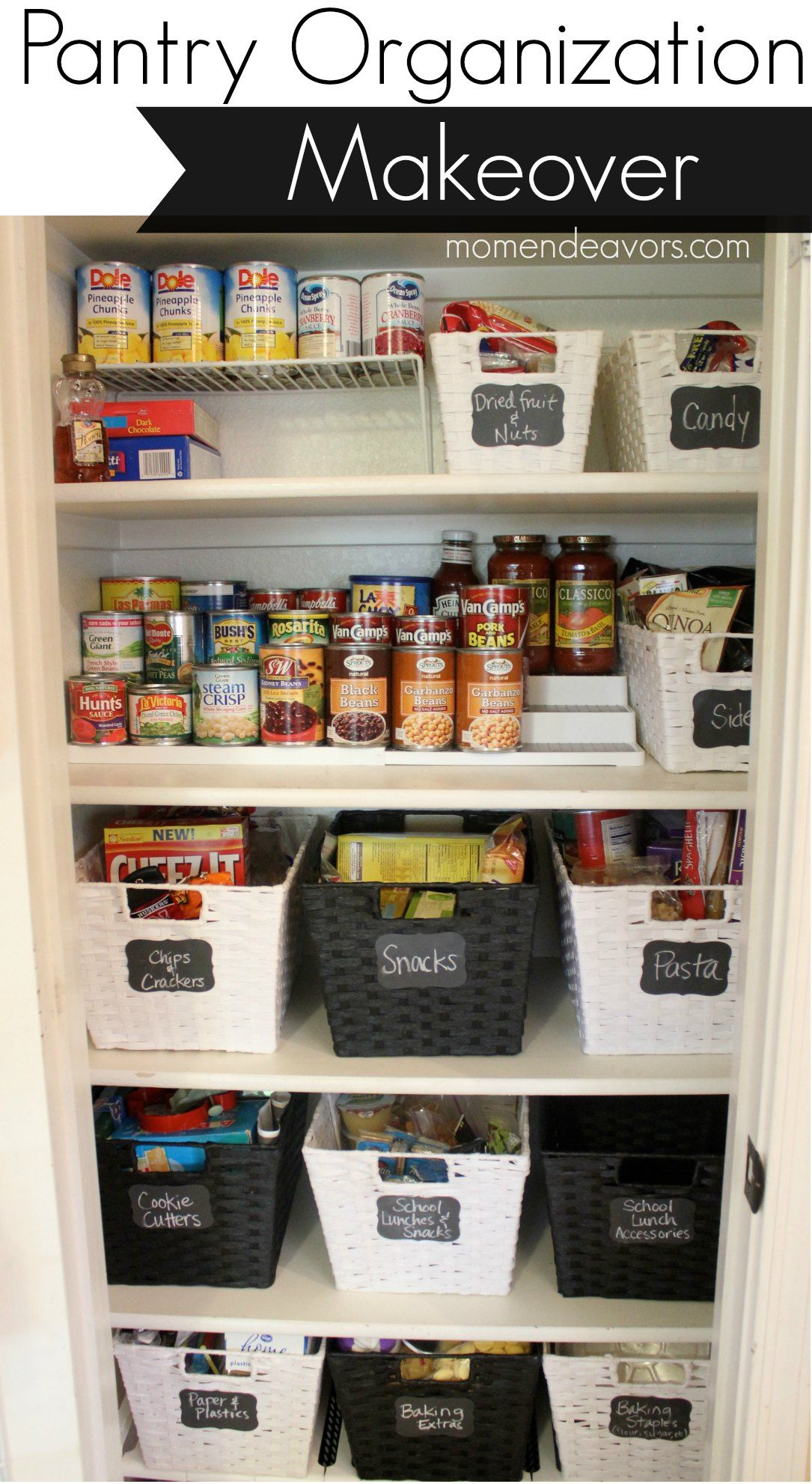 kitchen organization ideas Ideas for Creating an Organized Kitchen Can storage Heavens and Everything