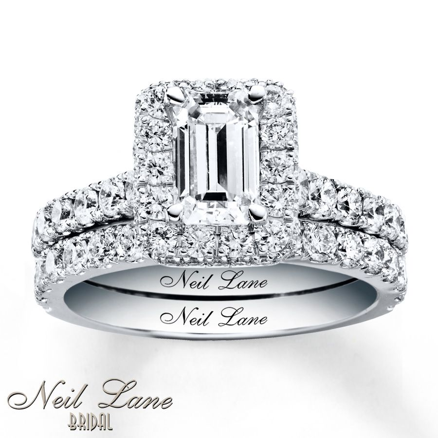 neil lane wedding bands Neil Lane Bridal Set 2 ct tw Diamonds White Gold Absolutely in love with this ring