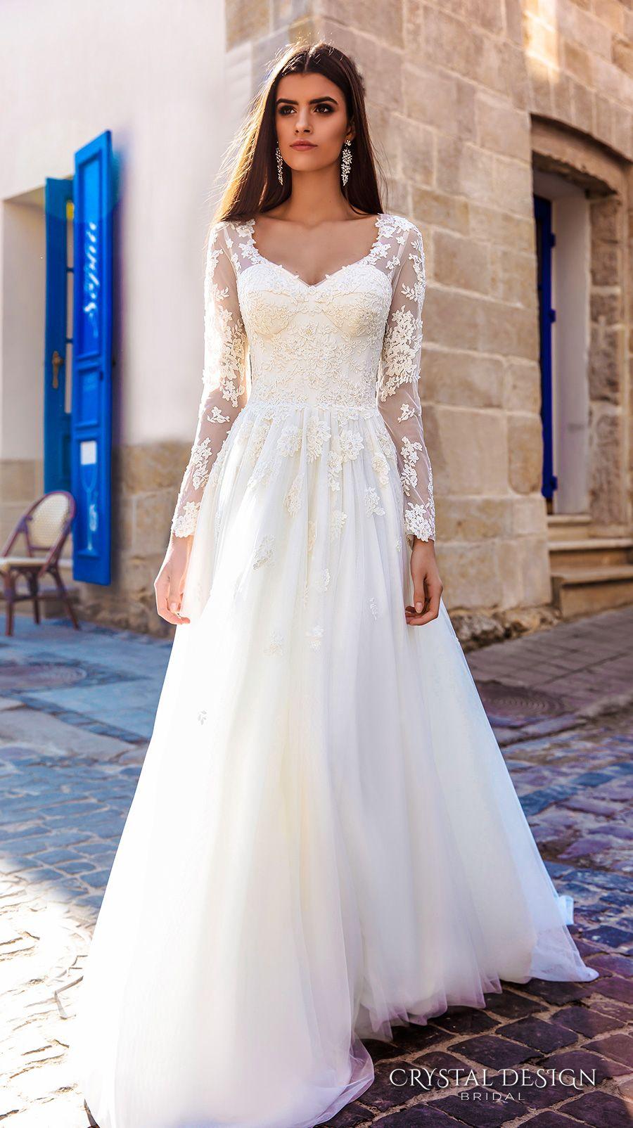sheer lace wedding dress Bridal