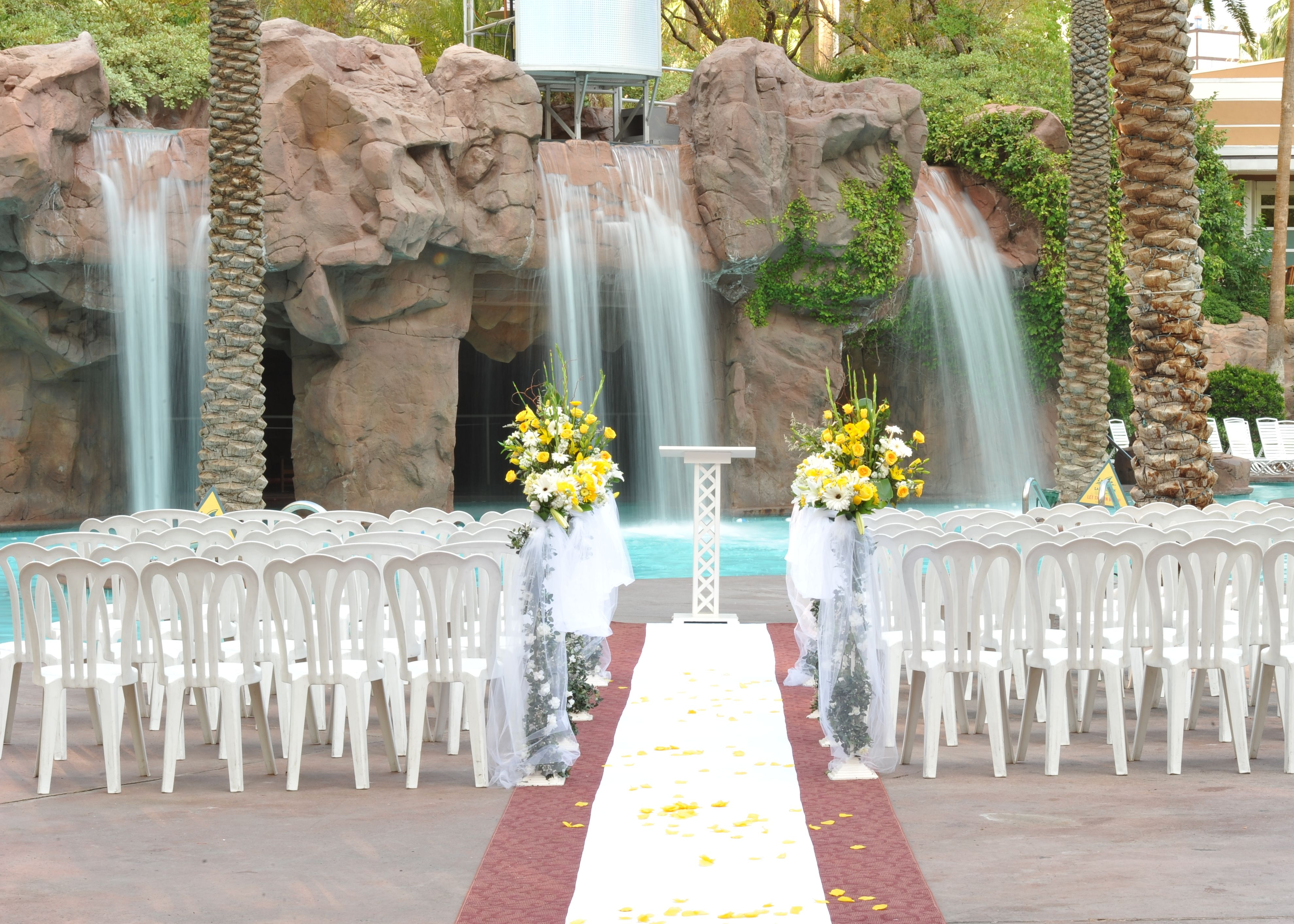 vegas weddings vegas wedding chapels The Crescendo Pool wedding chapel at the Flamingo Hotel Las Vegas