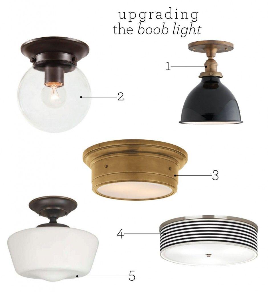 kitchen lighting flush mount Upgrading the Boob Light Flush Mount Kitchen