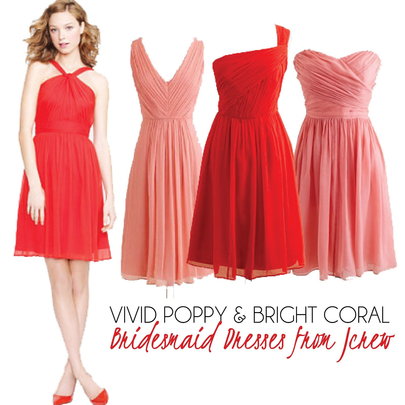 coral dress for wedding Poppy Bridesmaid Dress Summer Bridesmaid Dresses Coral Bridesmaids Coral Dress Bridesmaid Ideas Wedding Colors Wedding Styles Poppies Wednesday
