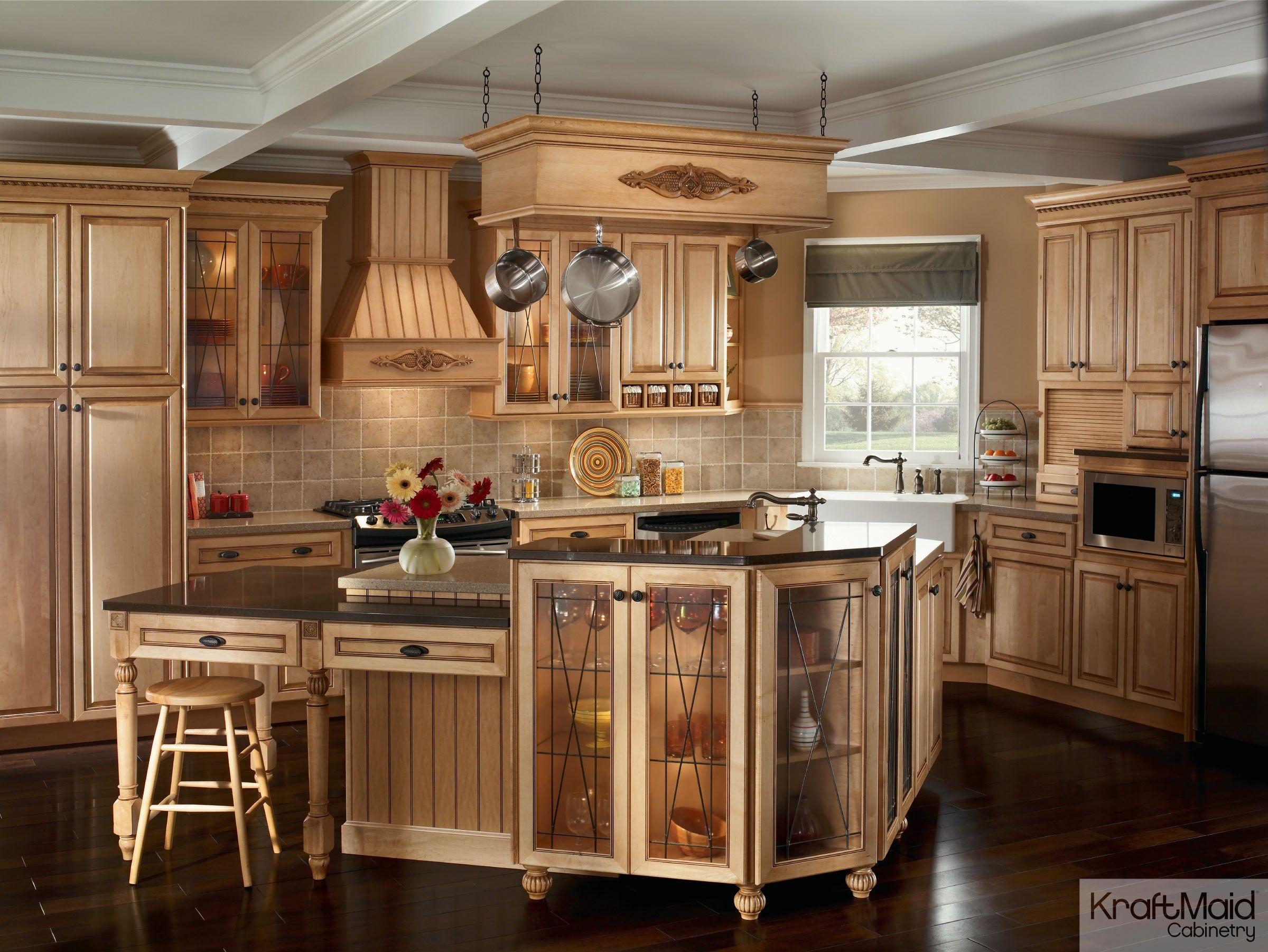 kitchens classically traditional kraftmaid kitchen cabinet prices This traditional kitchen with KraftMaid cabinetry and a multi tiered island provides a balance of
