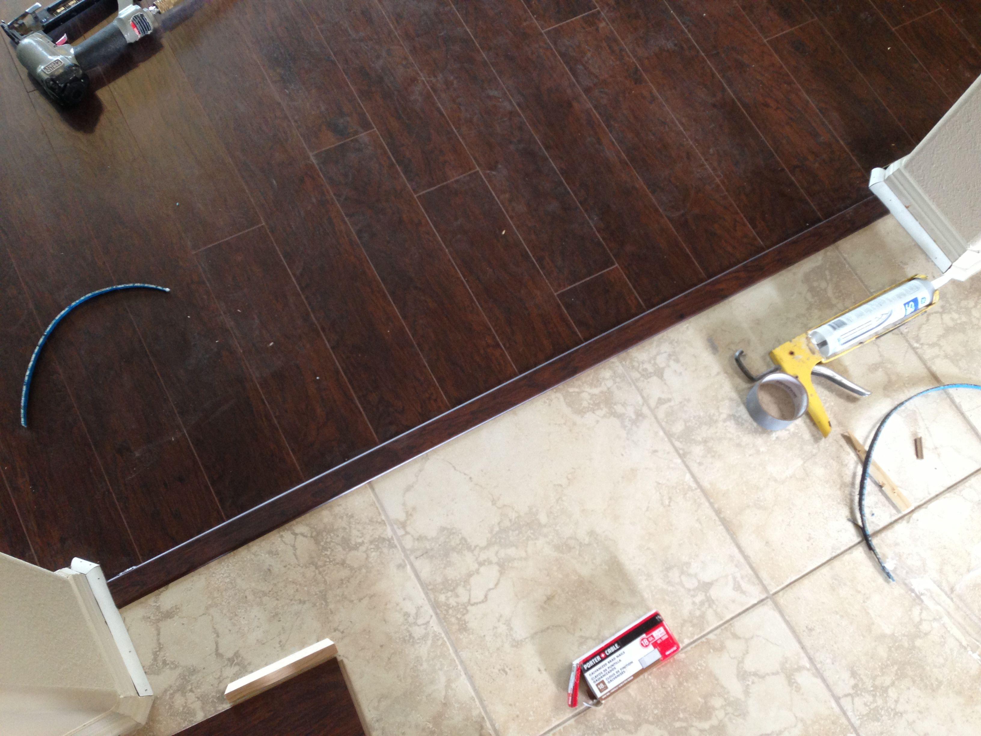 tile floor kitchen laminate kitchen flooring Tile transition to laminate