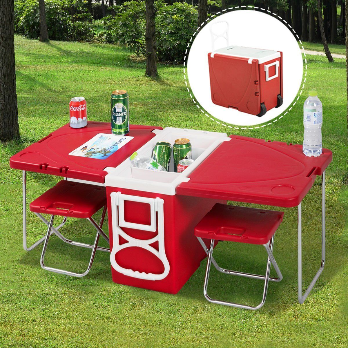 amazon kitchen chairs Amazon com Giantex Multi Function Rolling Cooler Picnic Camping Outdoor w Table