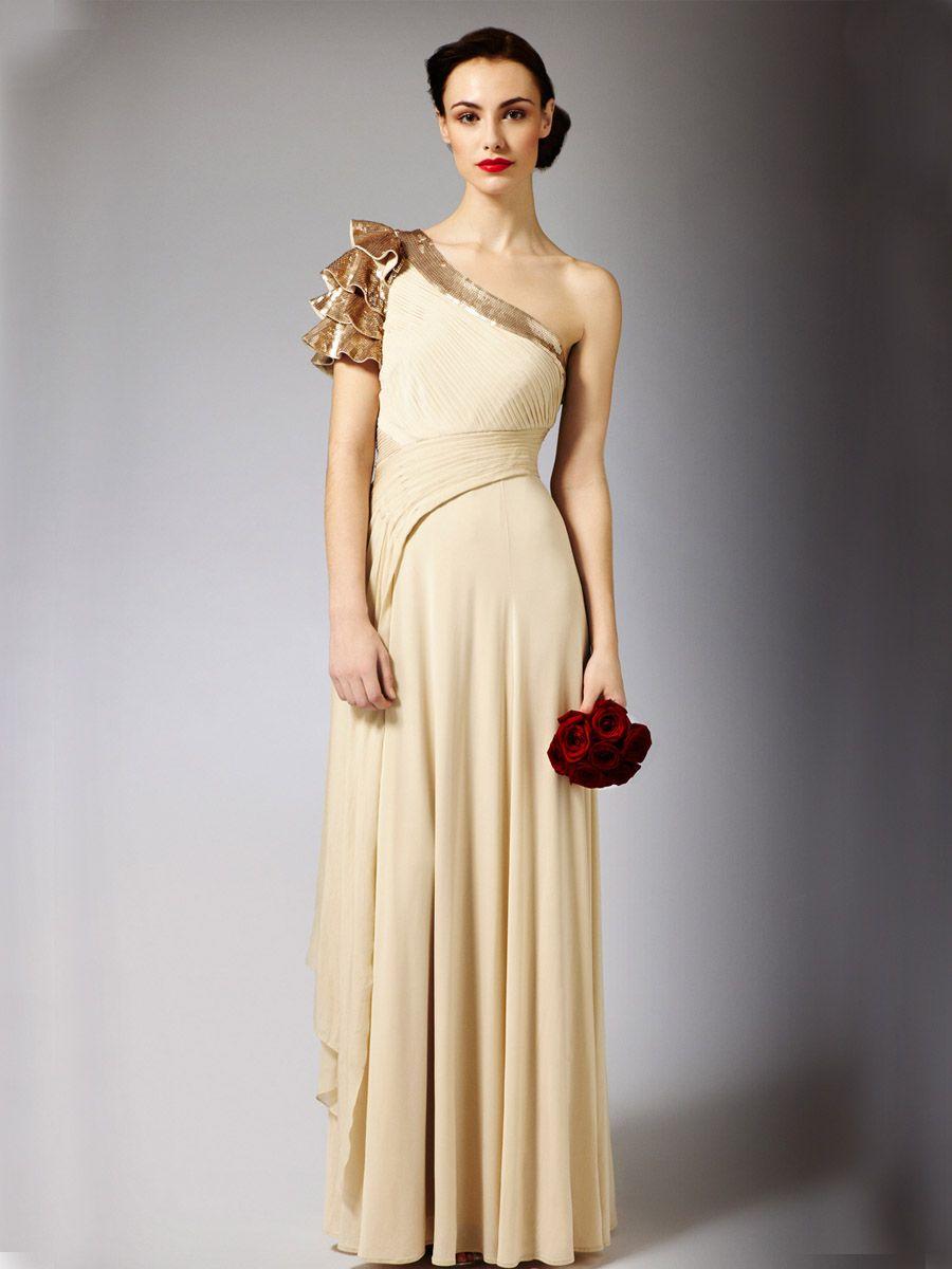 grecian wedding dress luxury grecian one shoulder maxi wedding dress with beautiful neck trim