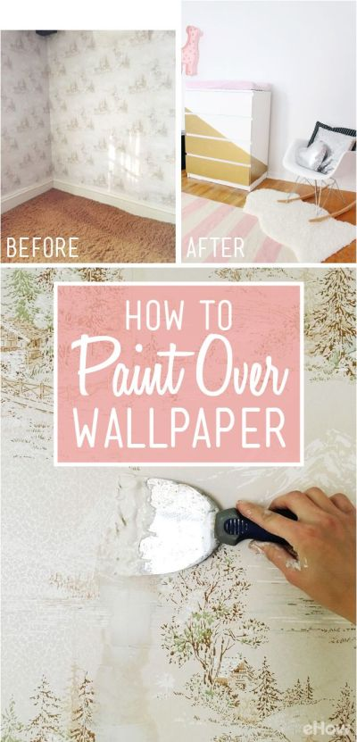 How to Easily Apply Paint Over Hard to Remove Wallpaper | Drywall