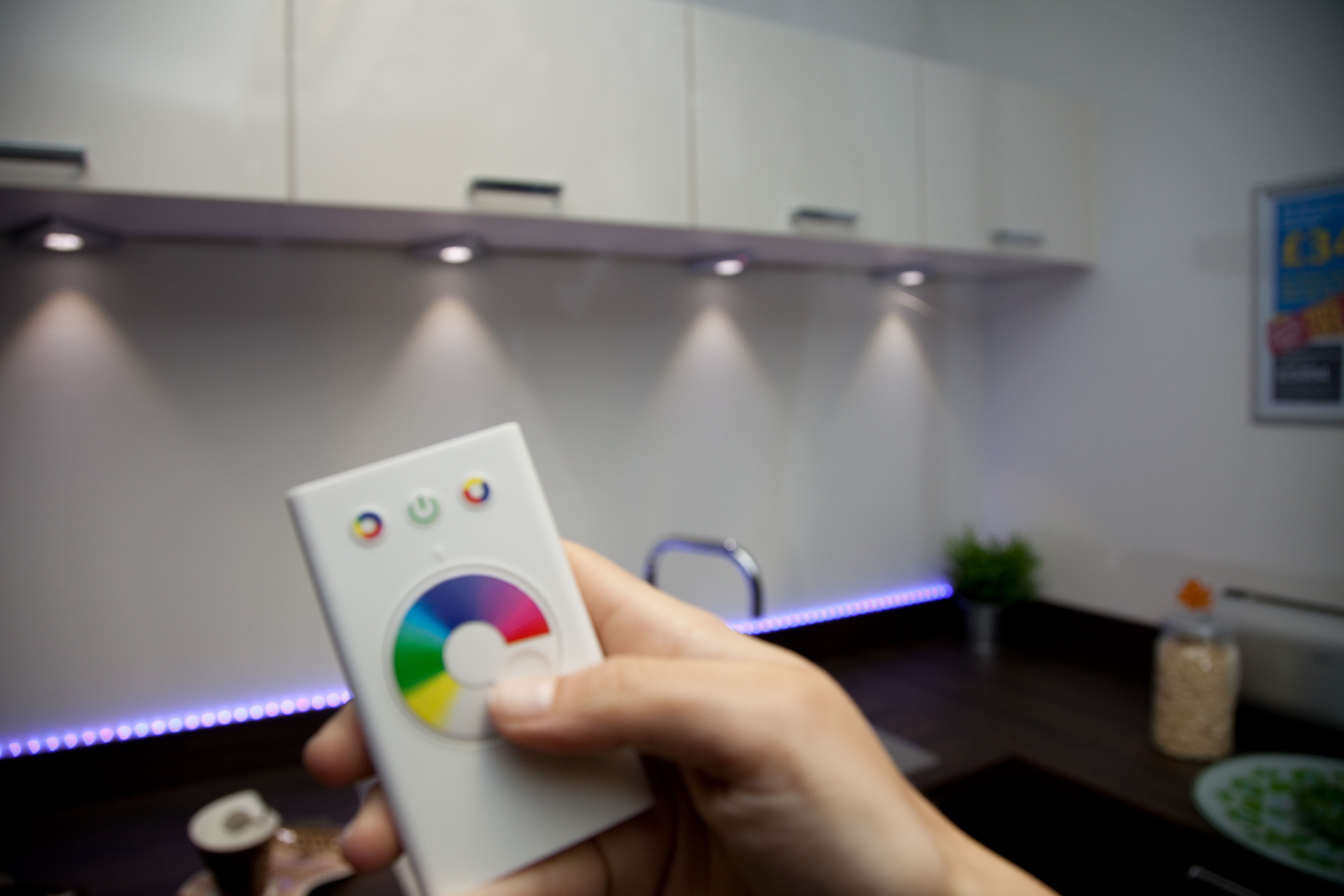 led kitchen light fixtures Change the mood by changing the colour colour changing LED lighting helps set ambiance in