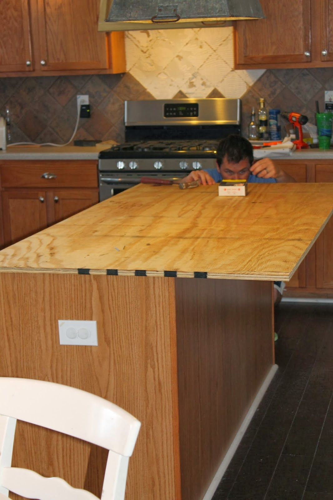 replacing kitchen countertops How to Create Faux Reclaimed Wood Countertops