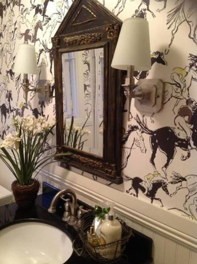 Dress your walls :: Why paper is better than paint | Powder, Feature and Room wallpaper