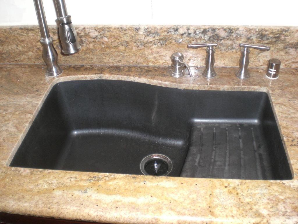just the kitchen sink granite kitchen sinks Kitchen Handsome Kitchen Decoration With Black Granite Composite