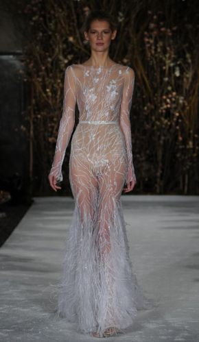 sexy wedding dresses See Mira Zwillinger s Bold Barely There Wedding Dresses for Spring