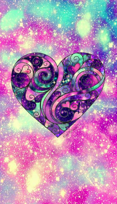 Sweetheart galaxy wallpaper I created for the app CocoPPa! | wallpapers | Pinterest | Planos de ...