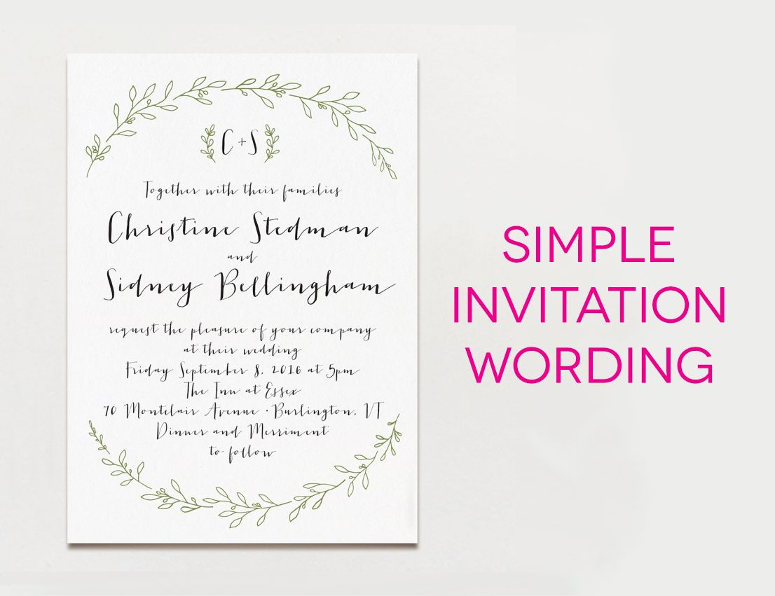 wedding invitations examples 15 Examples of Wedding Invitation Wording You Can Steal