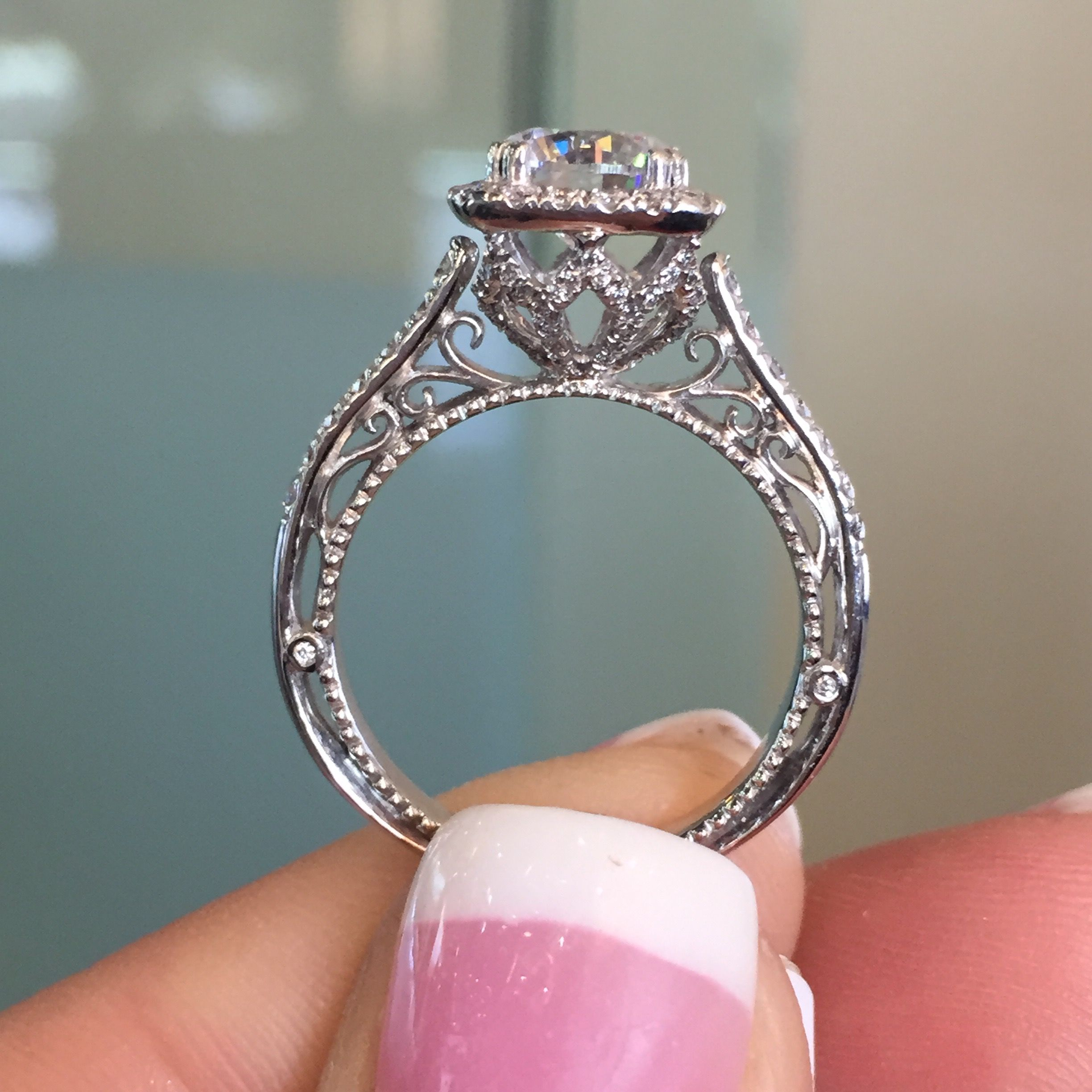 verragio wedding band Is this Verragio Venetian engagement ring the perfect soft square halo