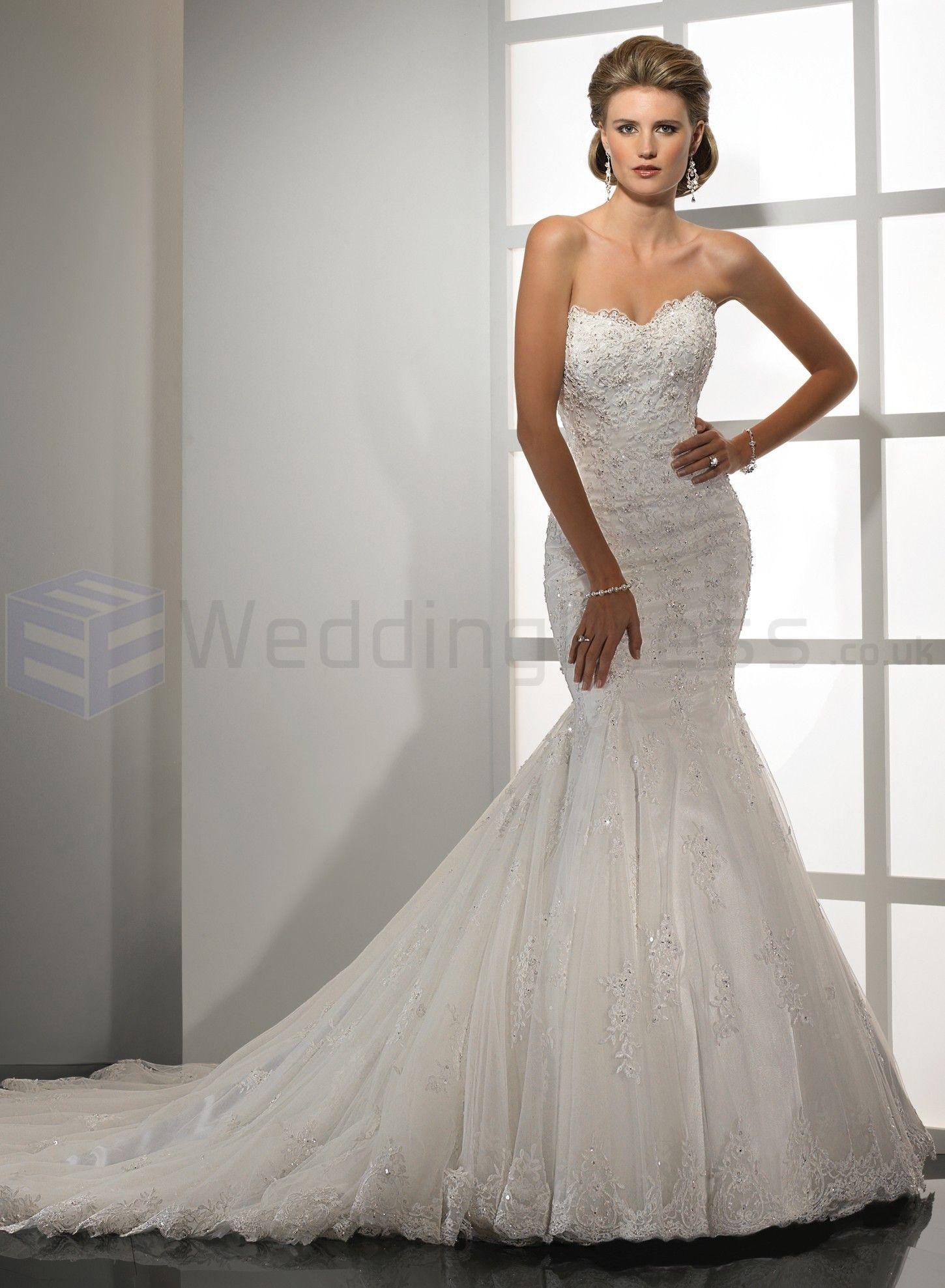 lace backless wedding dress Splendid Embellished Lace and Tulle Sweetheart Neckline Mermaid Wedding Dress