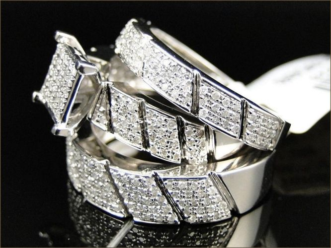wedding band for her Stylish and Cheap Wedding Rings Sets for Him and Her