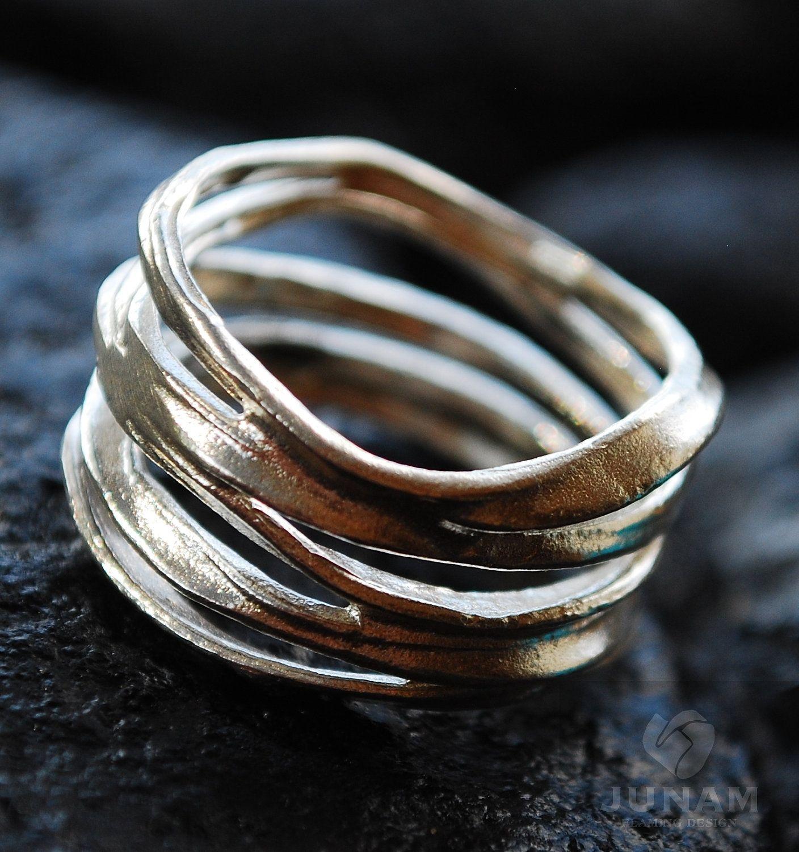 wedding ring designers Moissanite Wave Wedding Ring Bridal Set Colorless Forever One Moissanite Engagement Ring in Palladium White Gold Rose Gold or Yellow Gold Beautiful