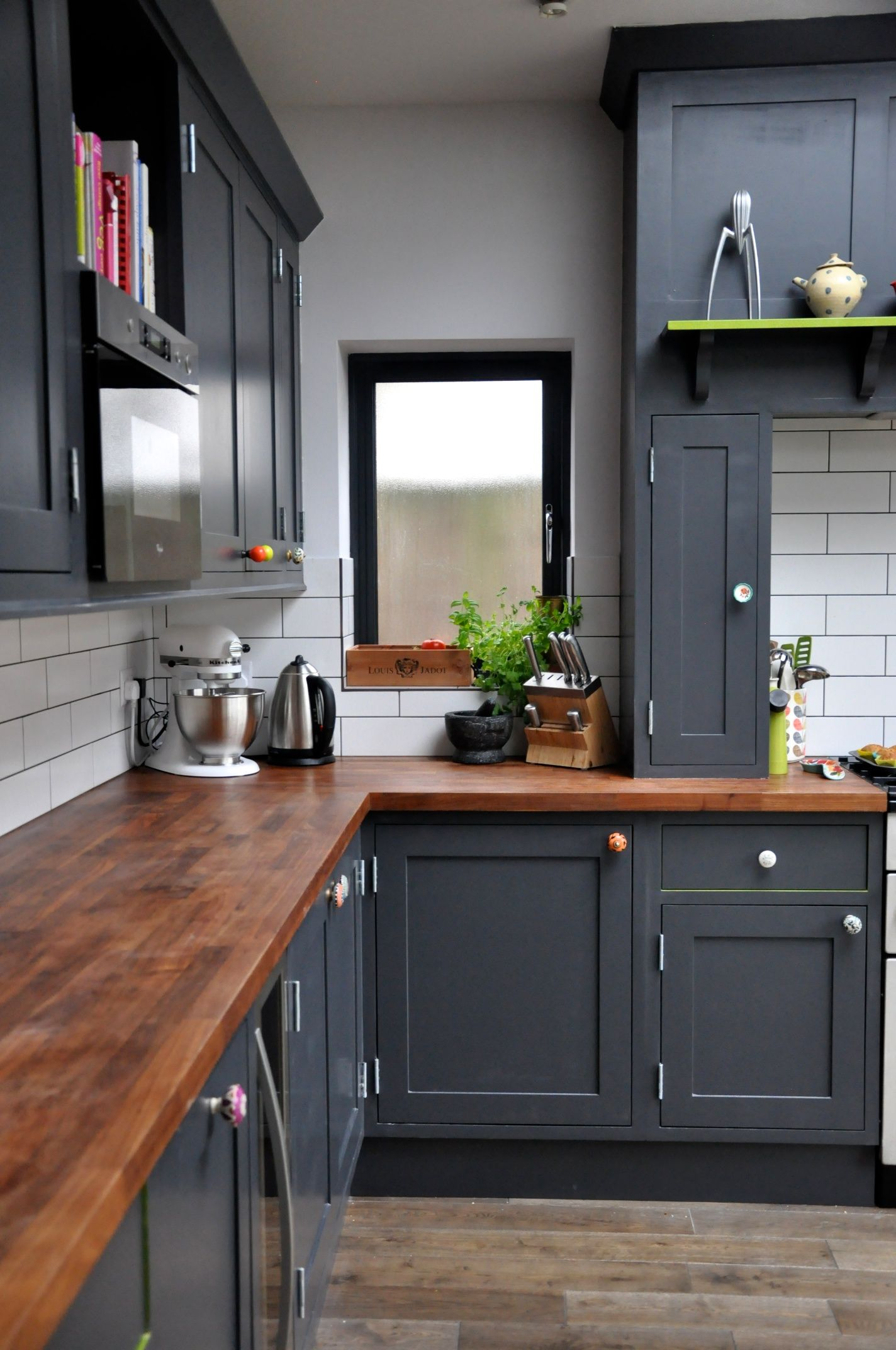 wood countertops kitchen Decorating With Black 13 Ways To Use Dark Colors In Your Home Walnut CountertopWalnut WorktopsWalnut Kitchen