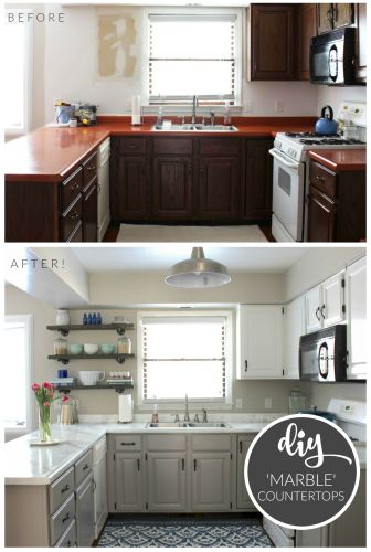 affordable kitchen remodel Get inspired by these amazing before and after kitchen makeovers and start planning a kitchen redo of your own Budget kitchen makeover