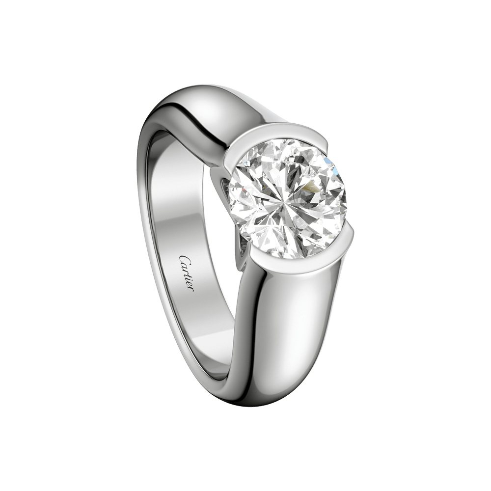 cartier wedding rings C de Cartier solitaire Engagement Rings Platinum diamond Fine Engagement Rings for women