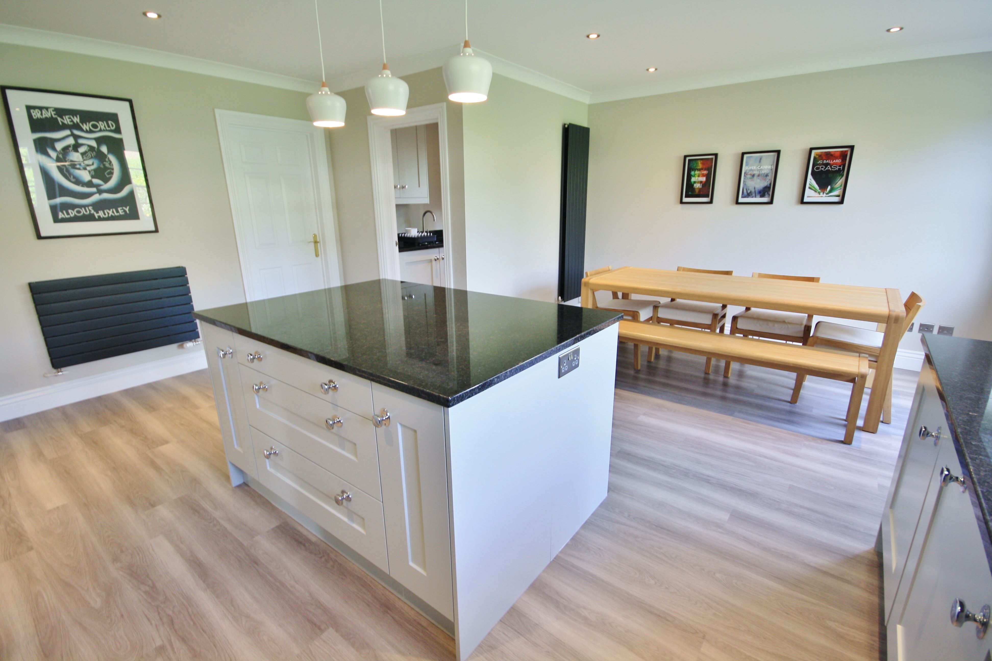 shaker kitchen island Shaker style kitchen island in Grey with matching Utility room Designed Supplied and Installed