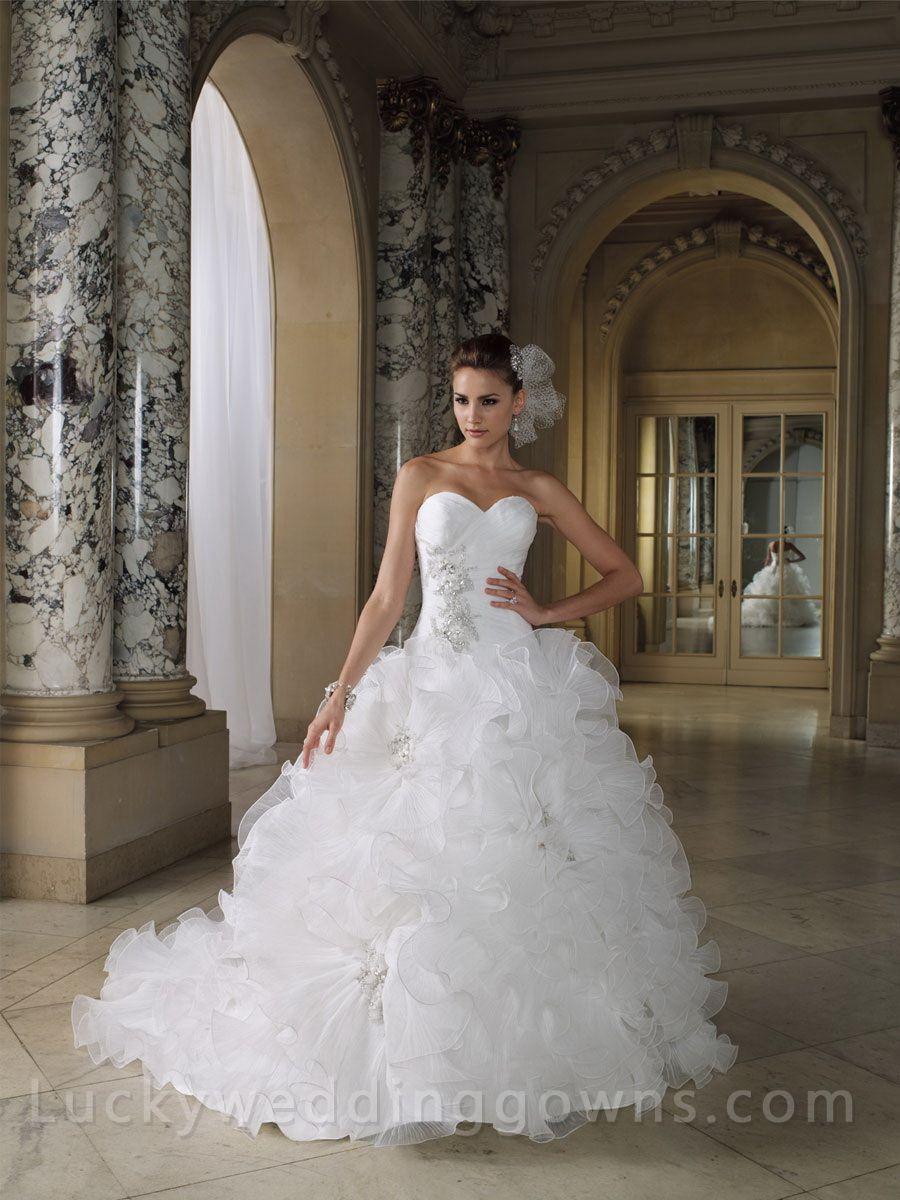 ruffle wedding dress Discover the David Tutera for Mon Cheri Aaliyah Bridal Gown Find exceptional David Tutera for Mon Cheri Bridal Gowns at The Wedding Shoppe