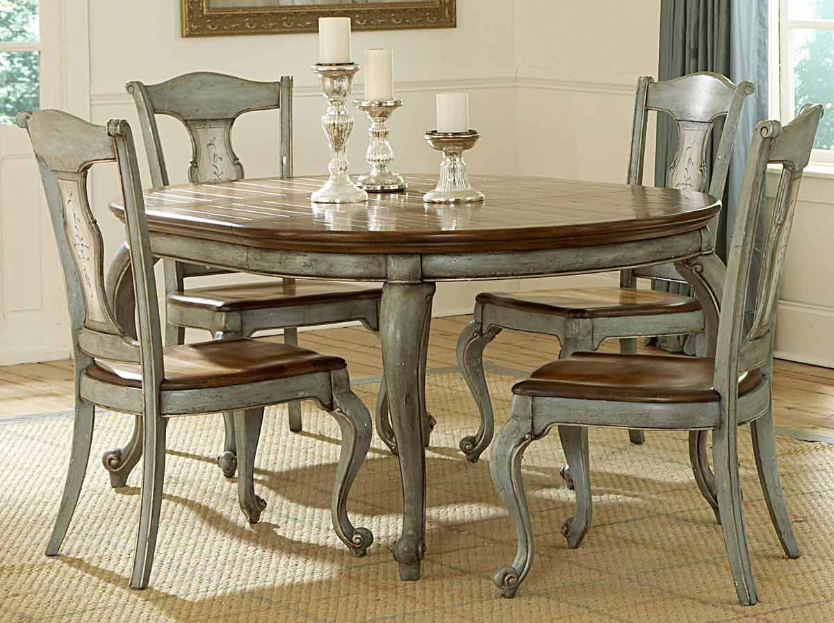 painted kitchen tables Paint a formal dining room table and chairs Bing Images