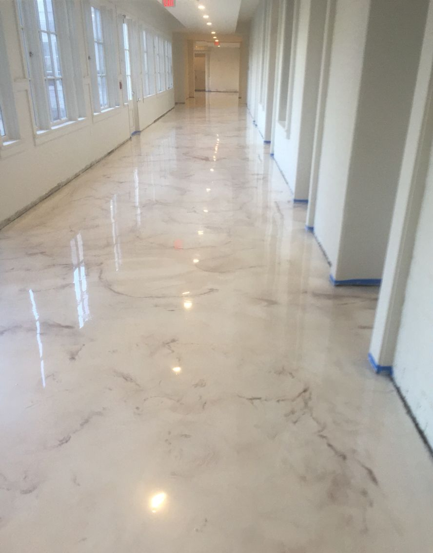 epoxy flooring kitchen Deco Crete Studios Pearl Metallic Epoxy Floor decorative concrete