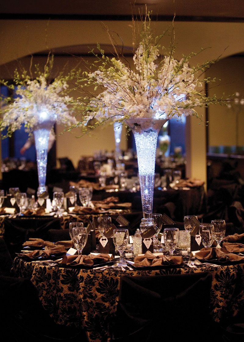 tall wedding centerpieces Tall Wedding Centerpieces But with a Deep purple light in centerpieces I even like