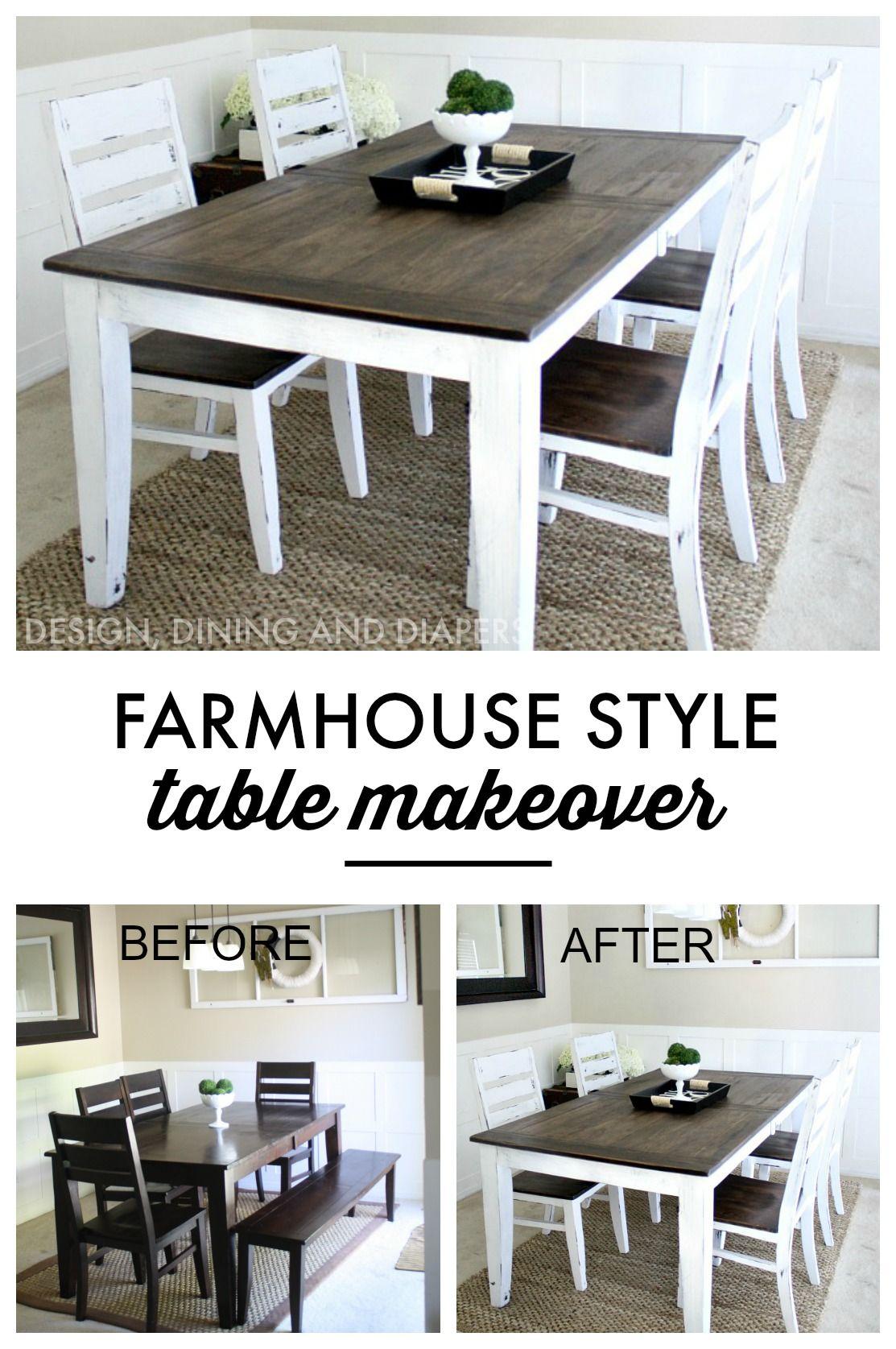 redo kitchen table Farmhouse Table Makeover