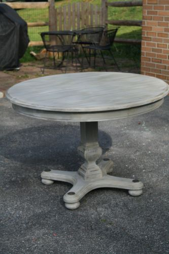 kitchen dining tables Primitive Proper Weathered Paris Gray Dining Table using Briwax