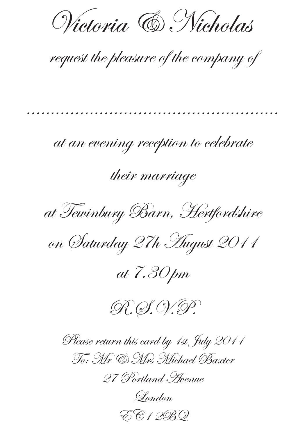 wedding invitations examples Formal Wedding Invitations Wording for Both Parents Invitations Pinterest Cards Invitation wording and Wedding invitation wording