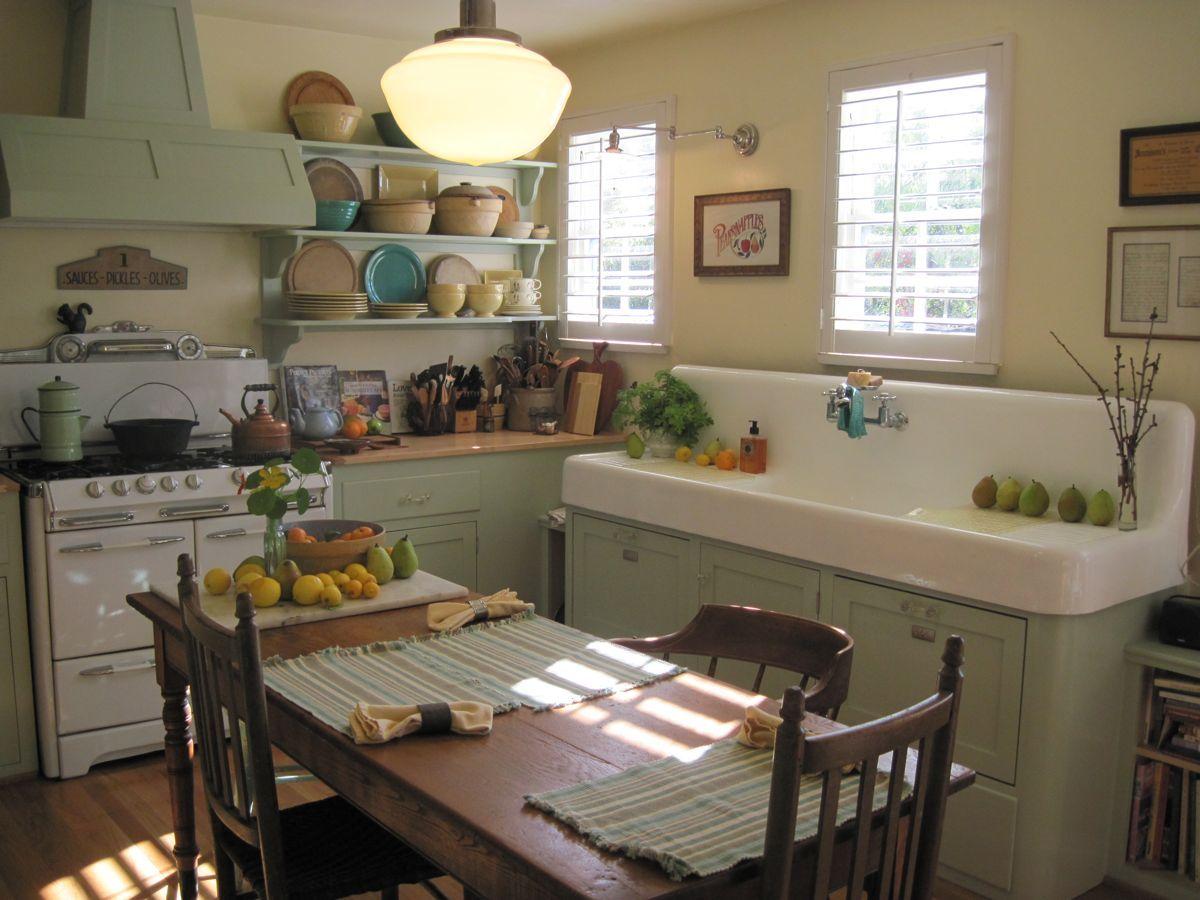 decor kitchens retro vintage style vintage kitchen sink KITCHEN