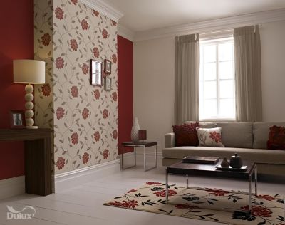 This beautiful floral is the perfect feature wall design adding a touch of glamour to any room ...