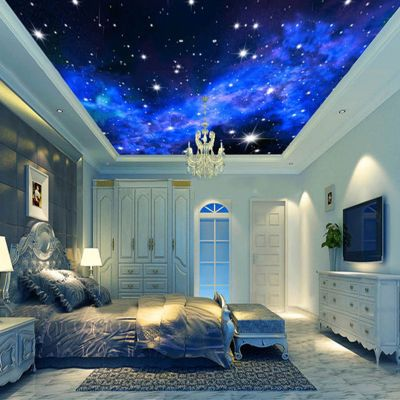3D Wallpaper Mural Night Clouds Star Sky Wall Paper Background Interior Ceiling Home Decor | 3d ...