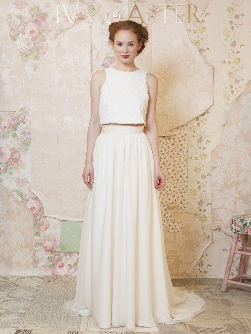untraditional wedding dresses Wedding Dresses Photos Water Lily Top Garland Skirt