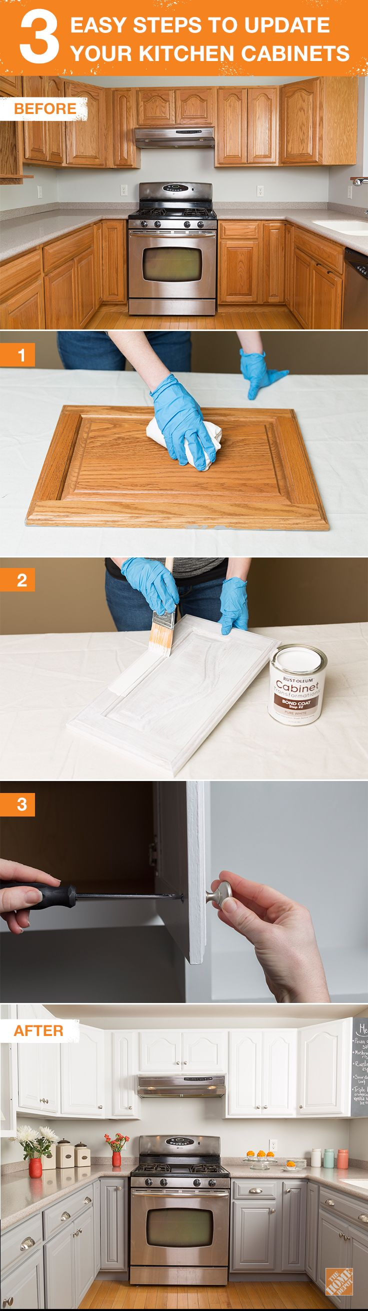 home depot kitchen remodel Get the Look of New Kitchen Cabinets the Easy Way